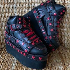NIB YRU Qozmo ❤️ Red Heart Platform Sneakers